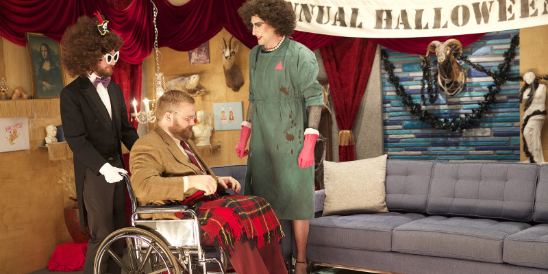 Season 4: Ep. 34: Robert Kirkman Wears a Tan Blazer and Red Suit Pants