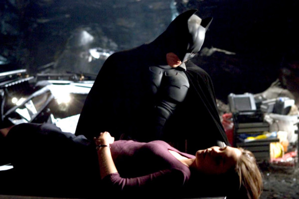 BATMAN BEGINS, Christian Bale, Katie Holmes, 2005, (c) Warner Brothers/courtesy Everett Collection