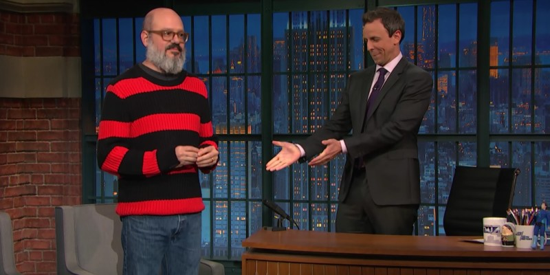 David Cross and Seth Meyers on Late Late Show