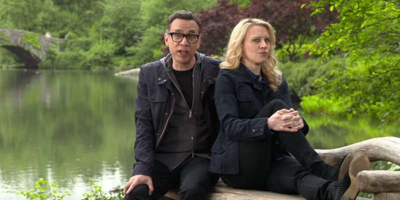Fred Armisen and Kate McKinnon in SNL Promo