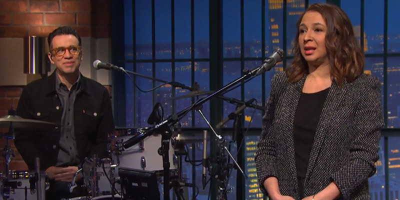 Fred Armisen Maya Rudolph Late Night Seth Meyers