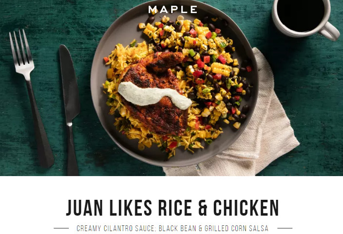 Food Delivery Service Maple Is Offering A Juan Likes Rice Chicken