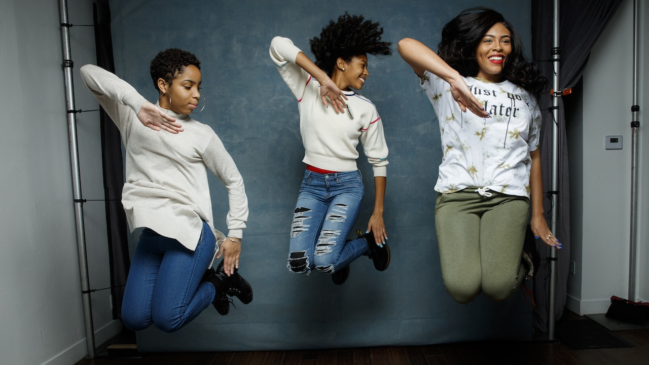 "Step team members Tayla Solomon, Cori Granger, and Blessin Giraldo, from the documentary film, ""STEP,"" are photographed at the 2017 Sundance Film Festival for Los Angeles Times on January 20, 2017 in Park City, Utah. PUBLISHED IMAGE. CREDIT MUST READ: Jay L. Clendenin/Los Angeles Times/Contour by Getty Images. (Photo by Jay L. Clendenin/Los Angeles Times/Contour by Getty Images)"