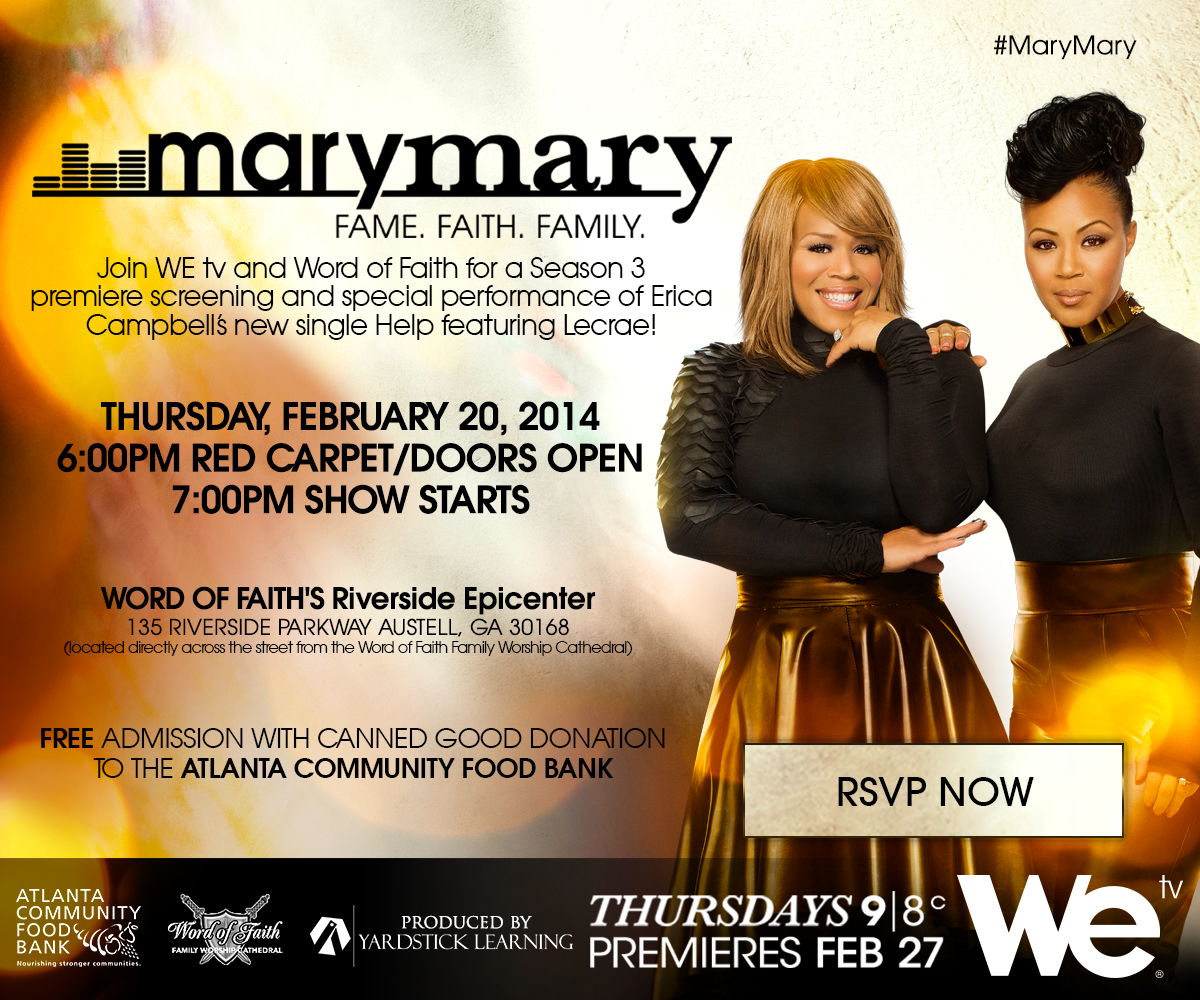 WE Tell All – Mary Mary's Coming to the ATL – WE tv